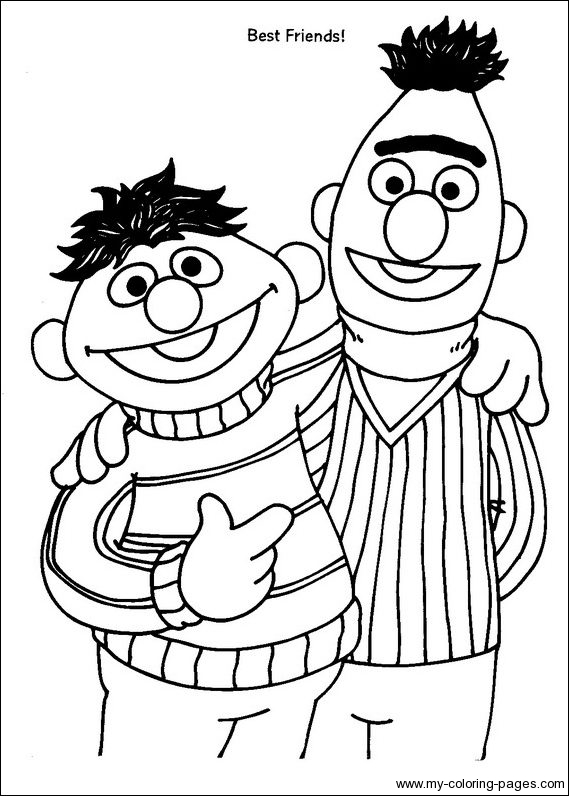 12 sesame street coloring page print color craft for Sesame street color pages