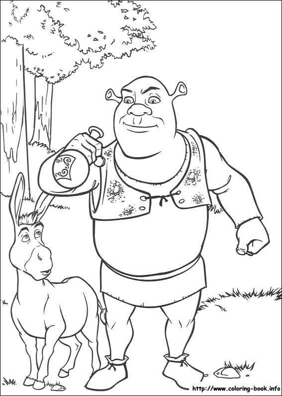 coloring pages of shrek,printable,coloring pages