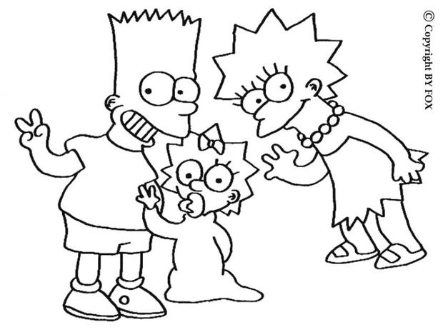 simpsons coloring pages 11,printable,coloring pages