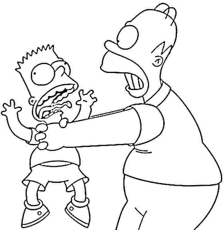 simpsons coloring pages 13,printable,coloring pages