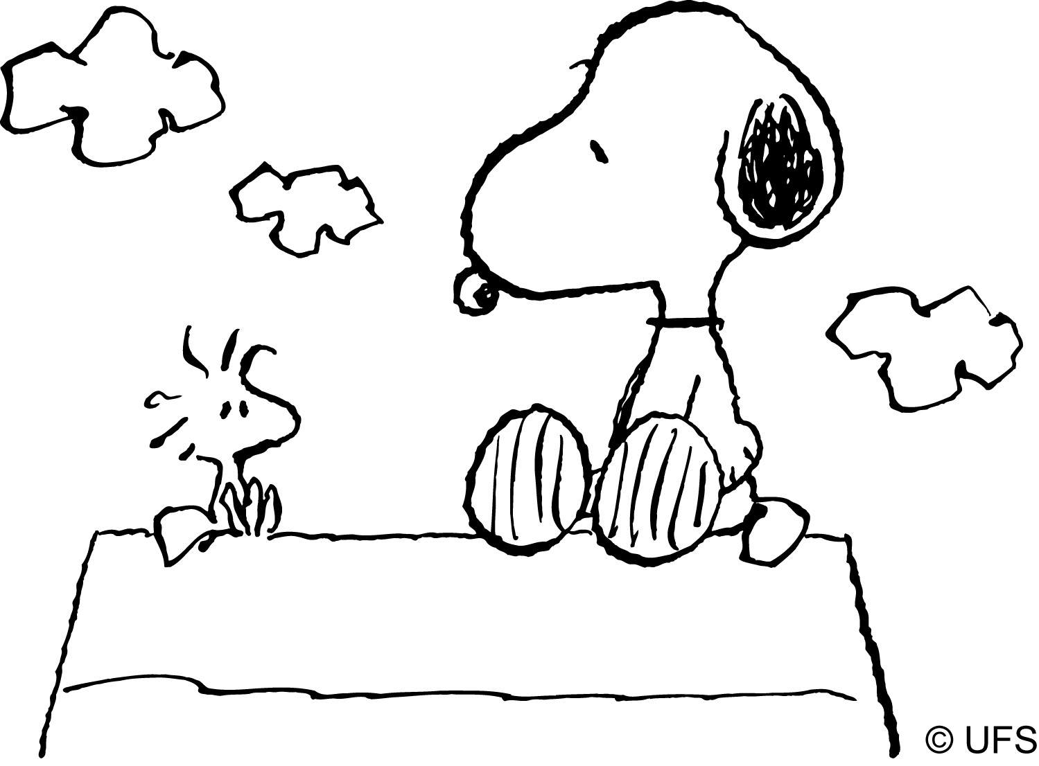 15 kids coloring pages snoopy | Print Color Craft