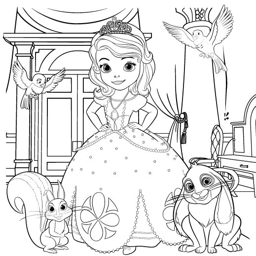 coloring pictures sofia the firstprintablecoloring pages - Kids Colouring Activities