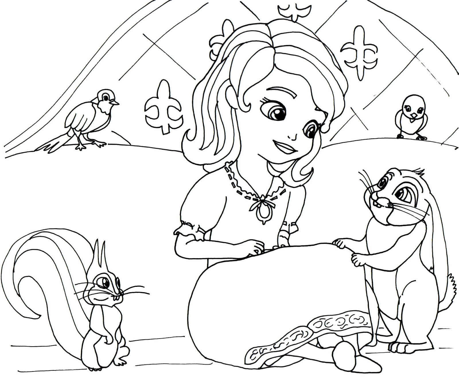 14 sofia the first coloring pages for kids print color craft