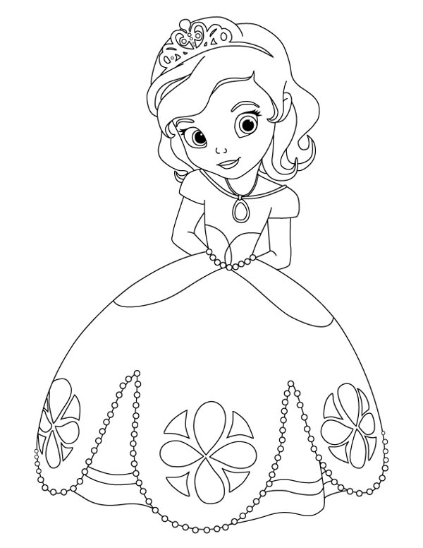 14 sofia the first coloring pages for kids | Print Color Craft