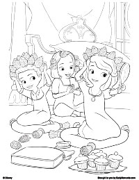 14 Sofia The First Coloring Pages For Kids
