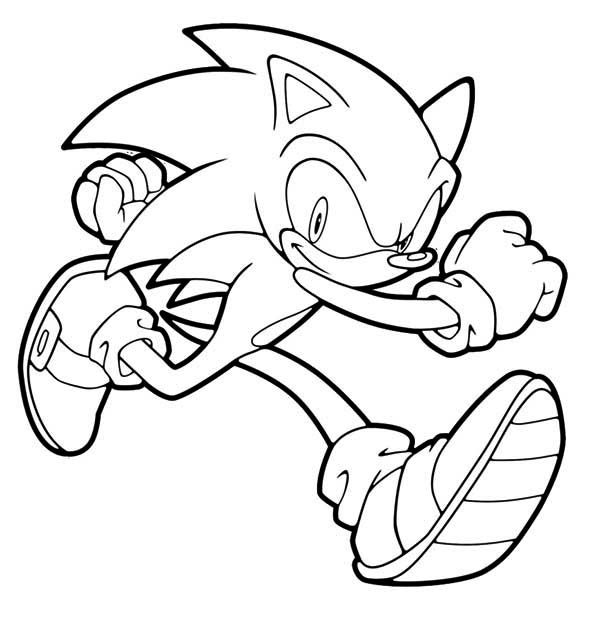 Sonic The Hedgehog Coloring Pages Printableprintablecoloring