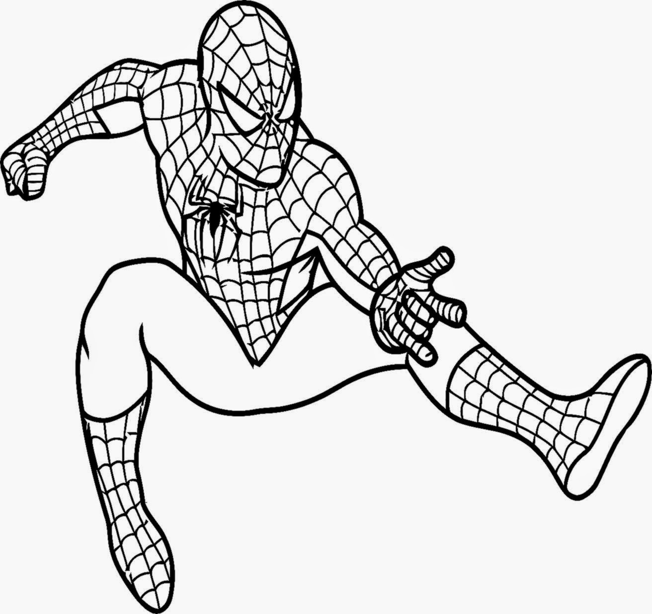 20 Coloring Pictures Of Spiderman Superhero Spider Man Coloring