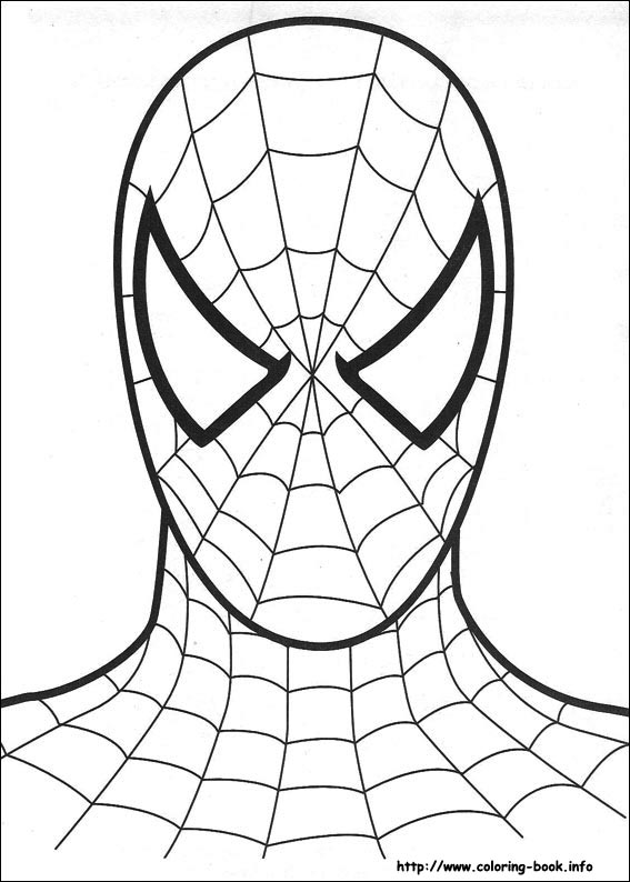 12 coloring pictures spiderman print color craft for Spiderman coloring page printable