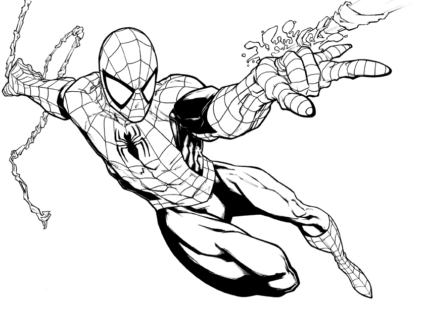 12 coloring pictures spiderman