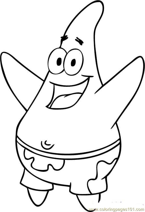 Patrick Star Printable Coloring Pages | Coloring Pages