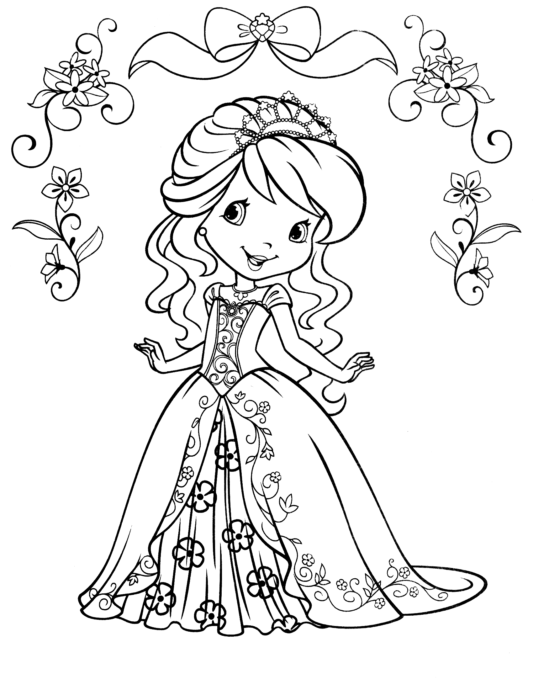 kids coloring pages strawberry-shortcake,printable,coloring pages