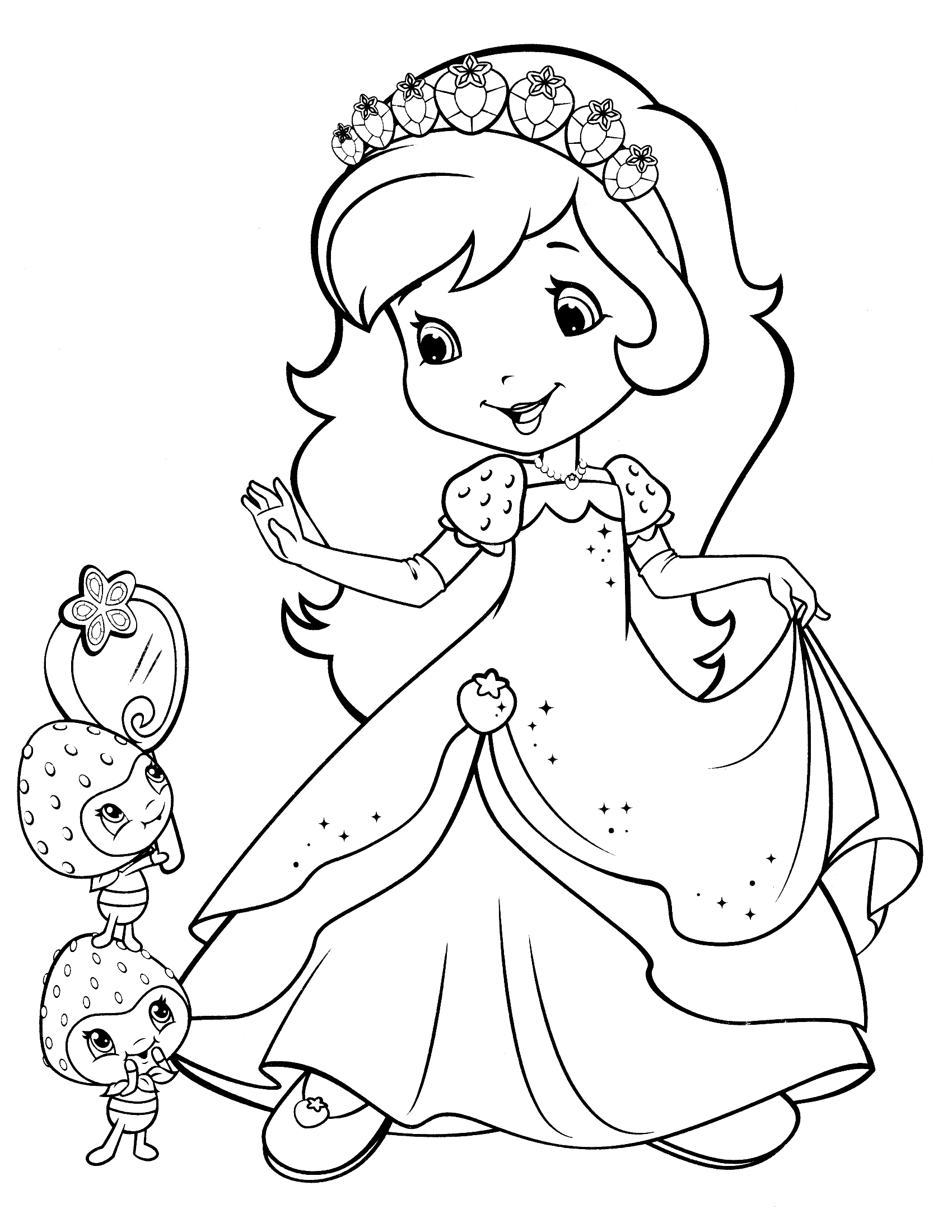 strawberry-shortcake coloring page,printable,coloring pages