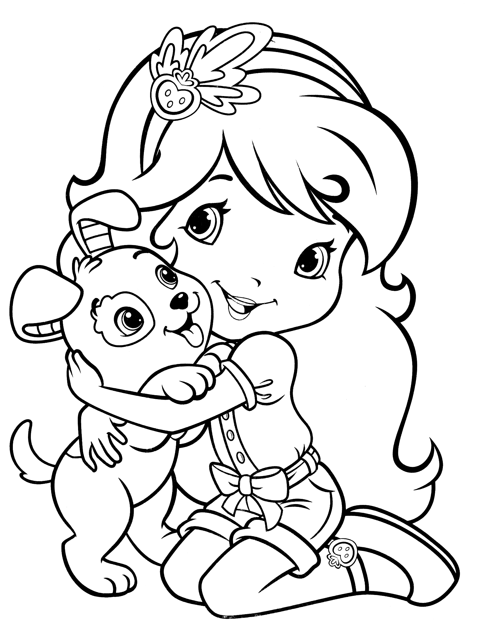 strawberry-shortcake coloring page to print,printable,coloring pages