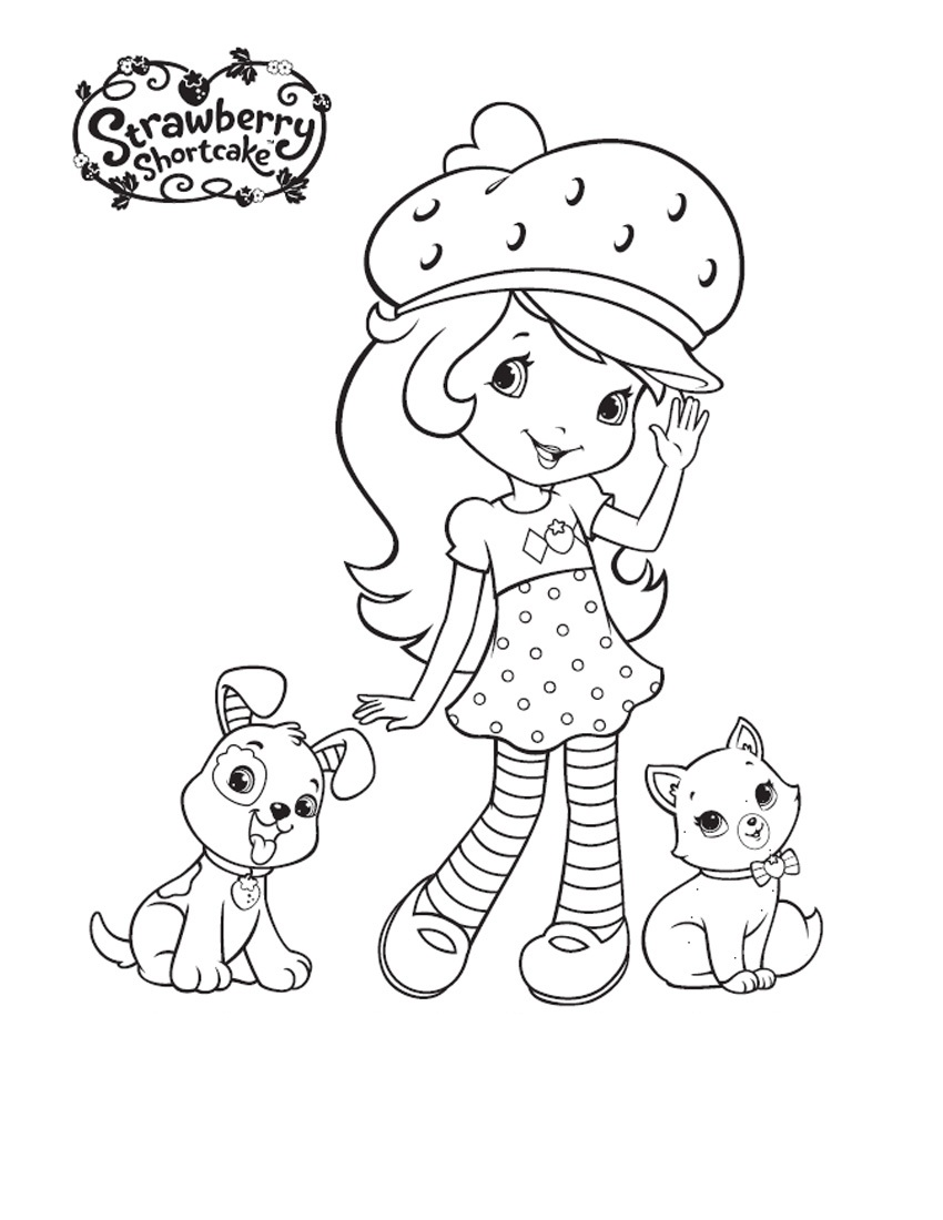 strawberry-shortcake coloring pages,printable,coloring pages