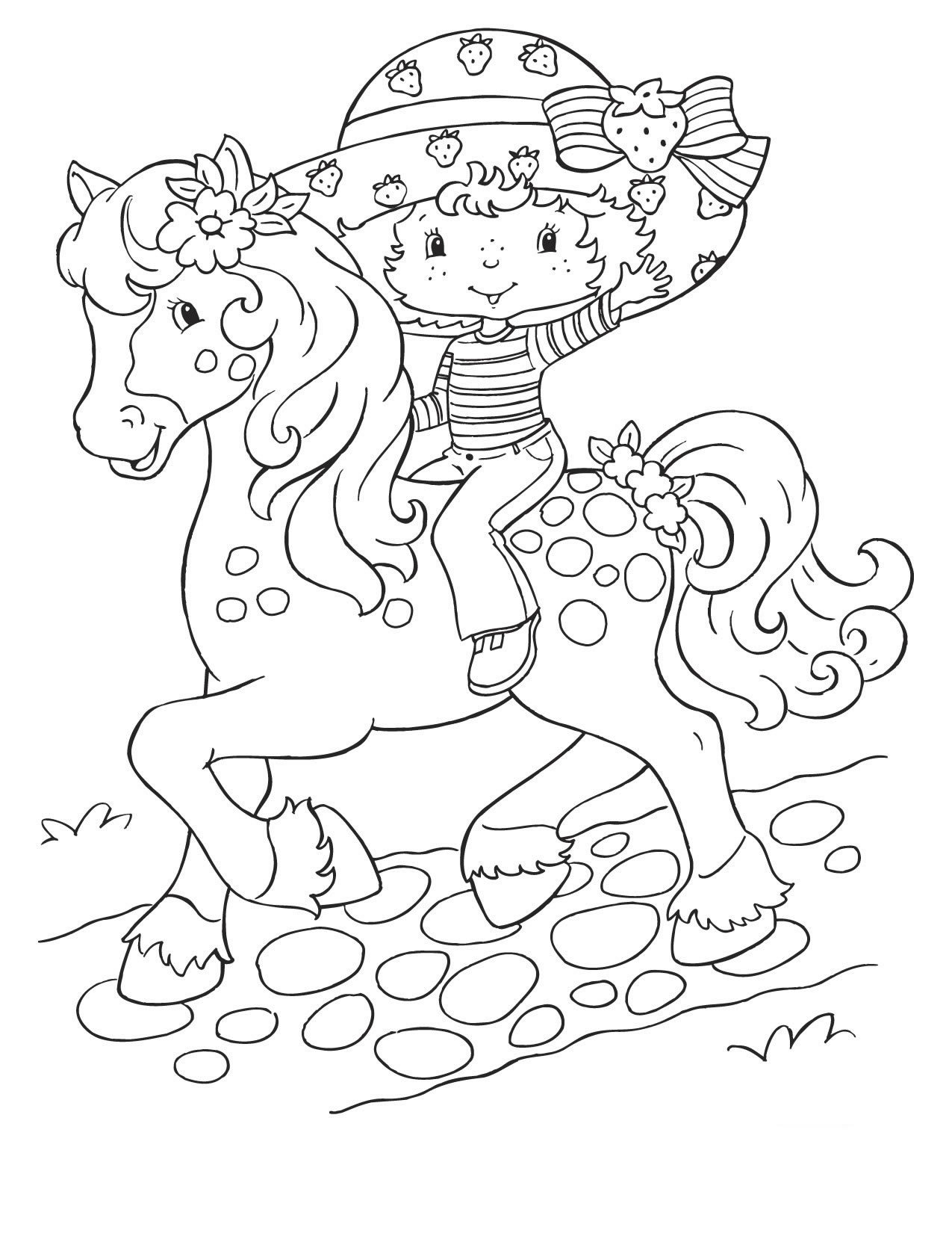 strawberry-shortcake coloring pages for kids,printable,coloring pages