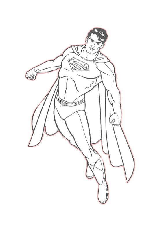 14 kids coloring pages superman - Print Color Craft