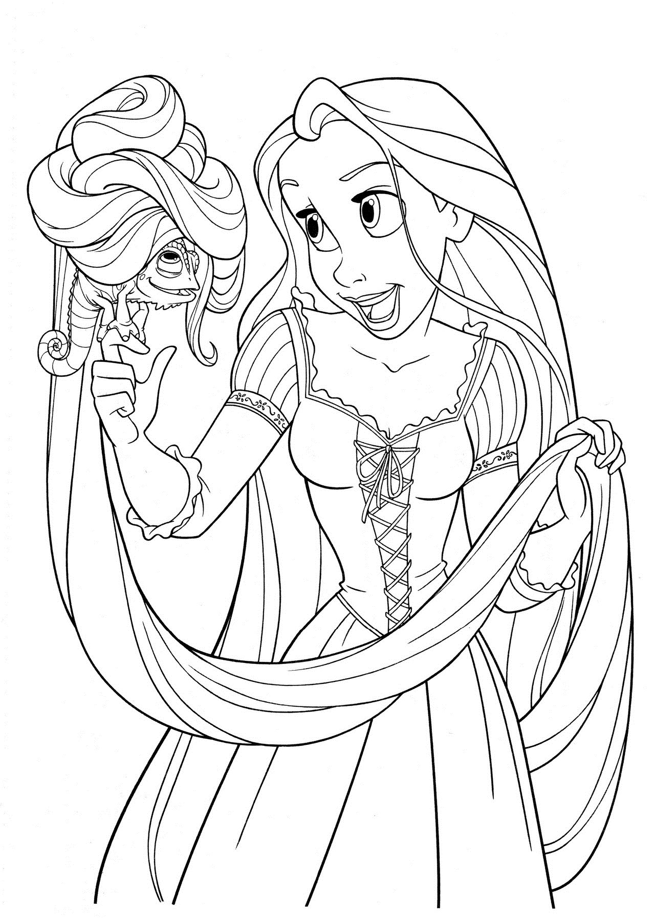12 tangled coloring pages printable