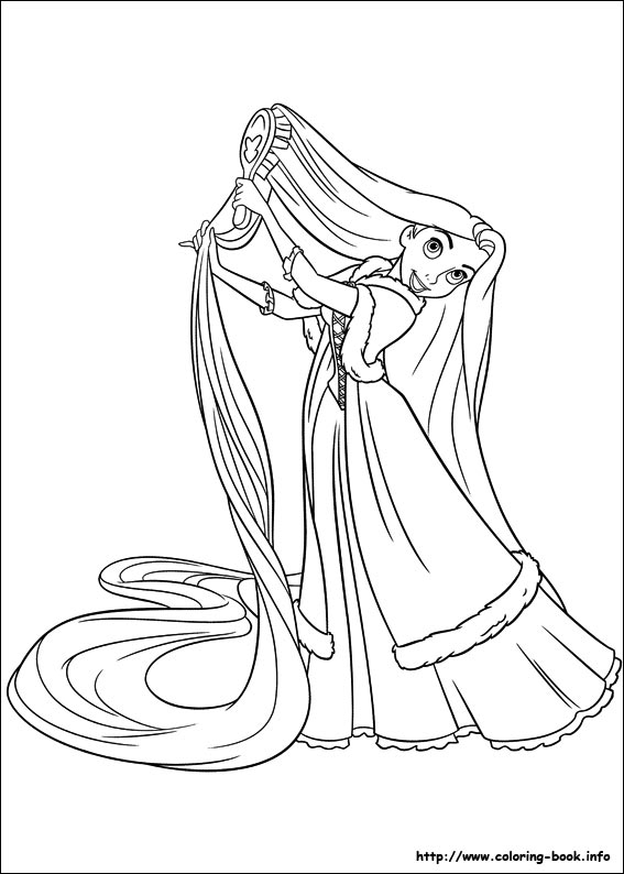printable tangled coloring pagesprintablecoloring pages - Tangled Coloring Pages Girls
