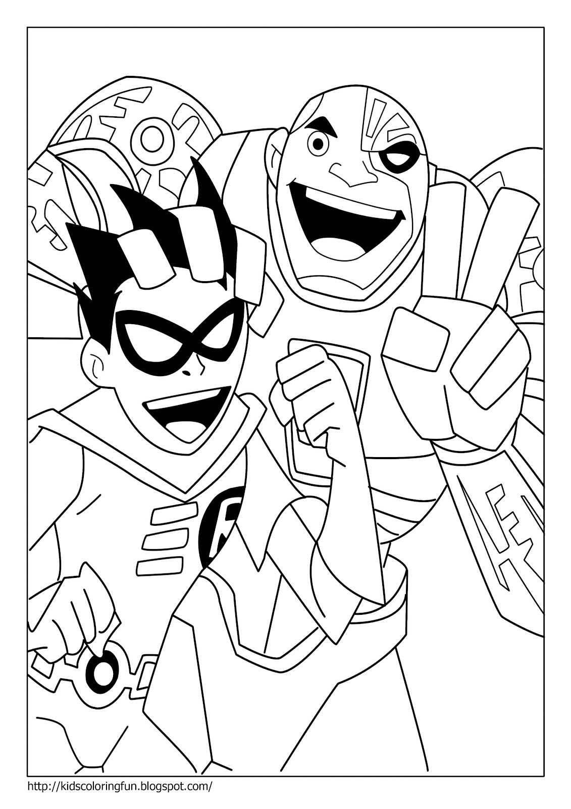 kids coloring pages teen-titans,printable,coloring pages