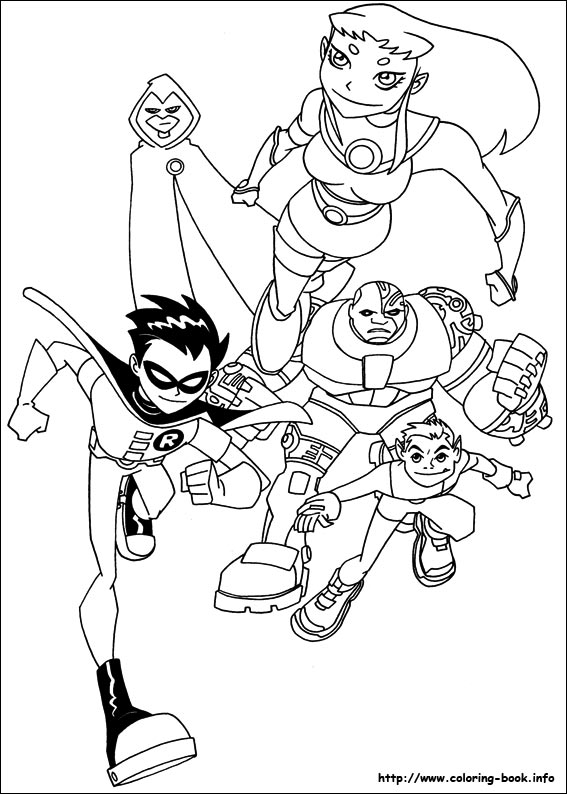 printable teen-titans coloring pages,printable,coloring pages
