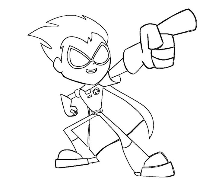 teen-titans coloring pages for kids,printable,coloring pages