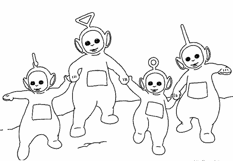 11 teletubbies coloring page - Print Color Craft