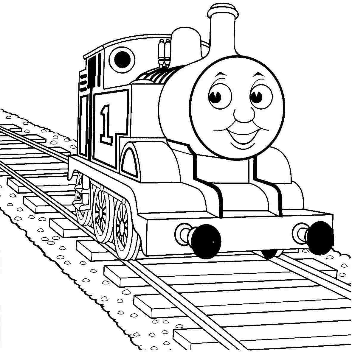 Coloring pages trains for kids - Coloring Pictures Thomas The Train Printable Coloring Pages