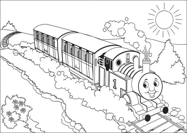 kids coloring pages thomas-the-train,printable,coloring pages