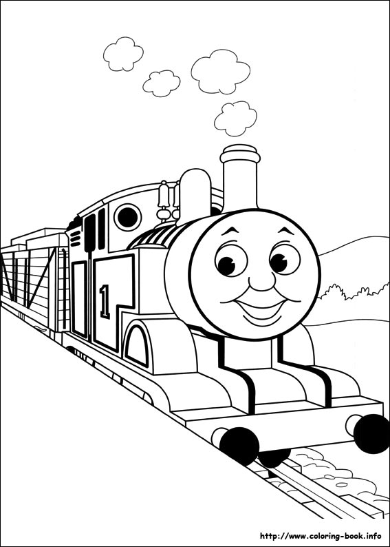 thomas-the-train coloring pages,printable,coloring pages