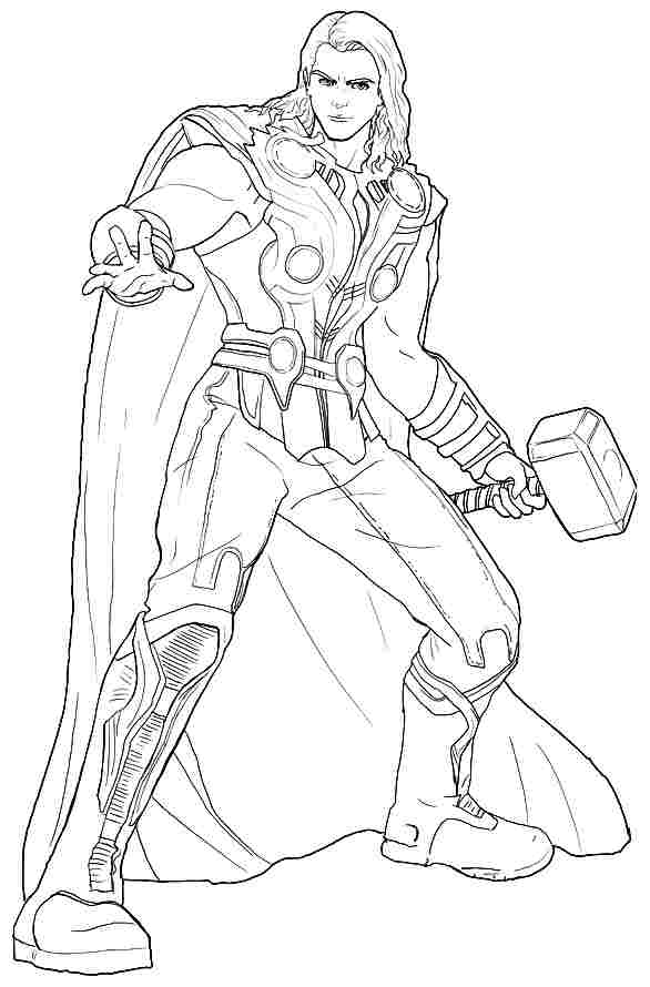 kids coloring pages thorprintablecoloring pages - Thor Printable Coloring Pages