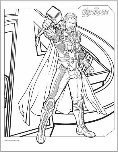 printable pictures of thor page,printable,coloring pages