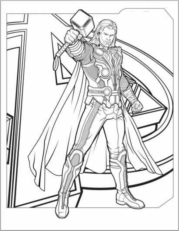 Printable Thor Coloring Pagesprintablecoloring Pages