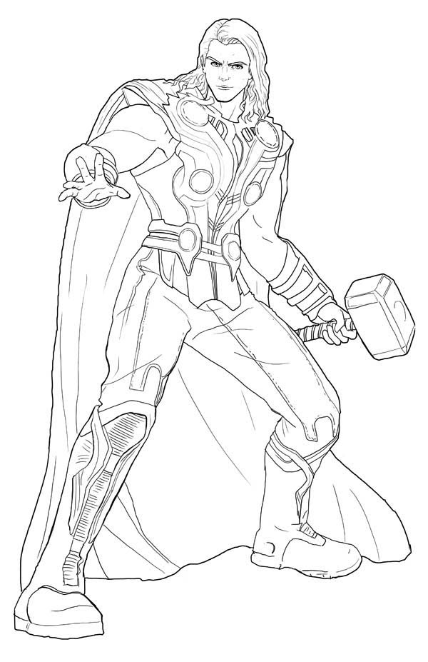 thor coloring page,printable,coloring pages