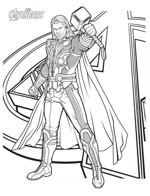 14 kids coloring pages thor