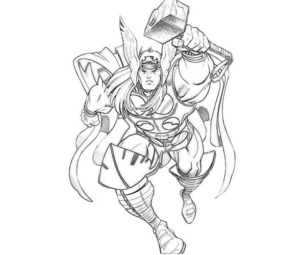 thor coloring pages 12,printable,coloring pages