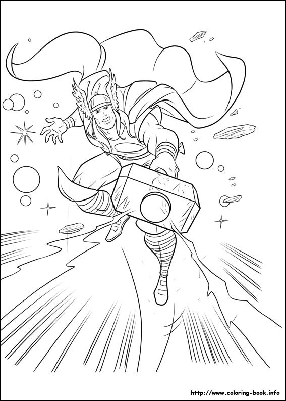 thor coloring pages 13,printable,coloring pages