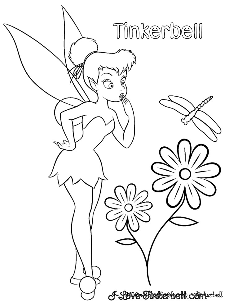 Kids Coloring Pages Tinkerbellprintablecoloring