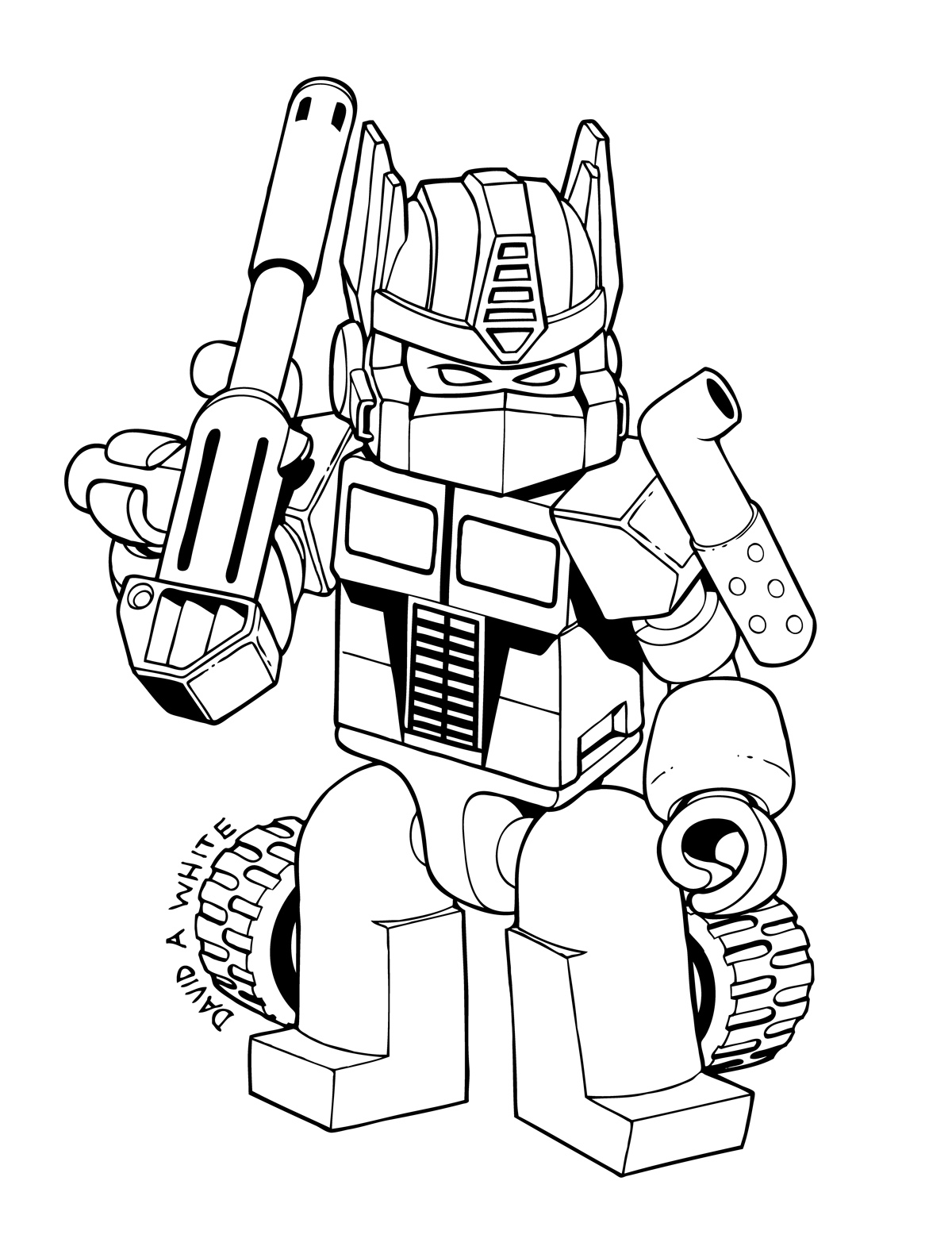 Coloring Pictures Transformersprintablecoloring Pages