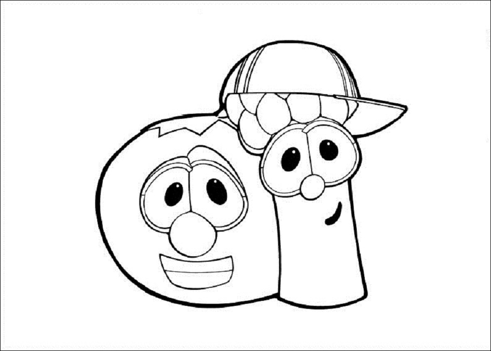 Veggie Tales Coloring Pages Printable - Coloring Home | 700x980