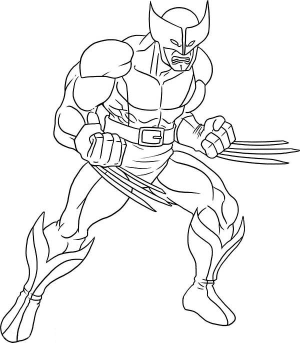 coloring pages of wolverineprintablecoloring pages
