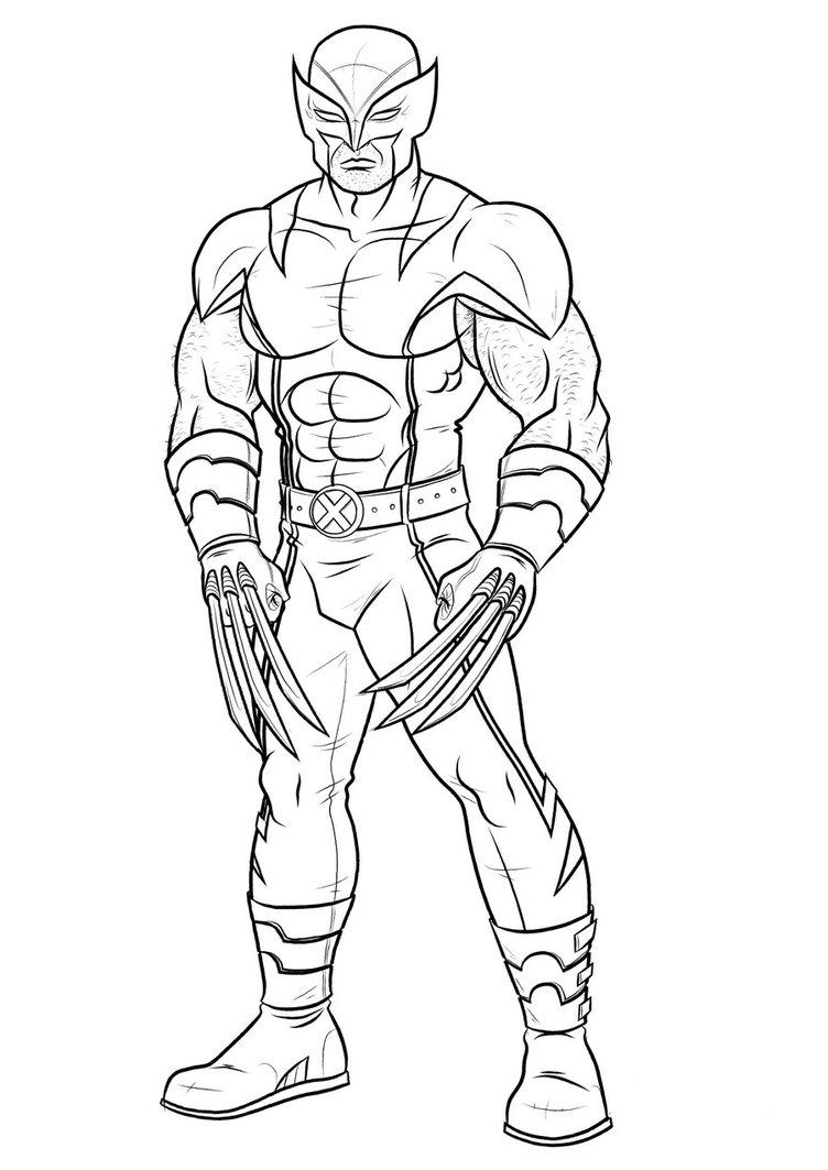 15 wolverine coloring pages for kids sharp claws x men print wolverine coloring pages maxwellsz