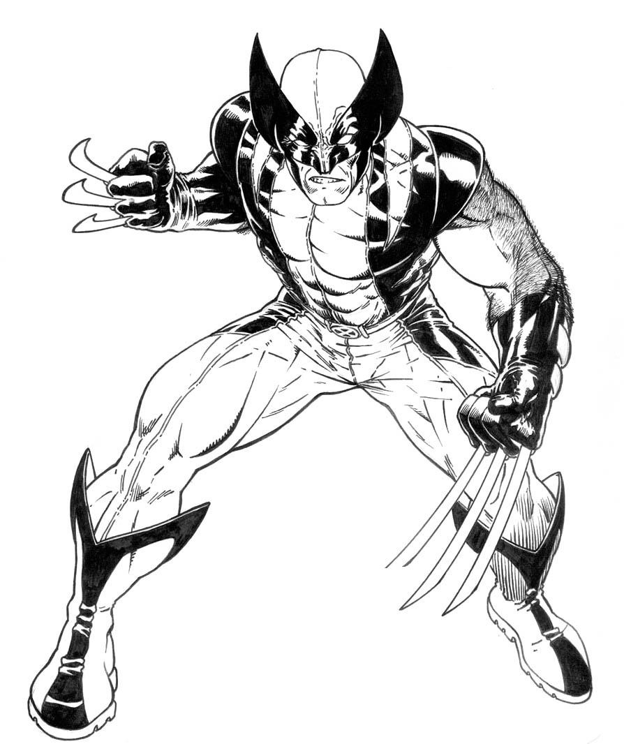 Wolverine coloring pages to print - Printable Pictures Of Wolverine Page Printable Coloring Pages