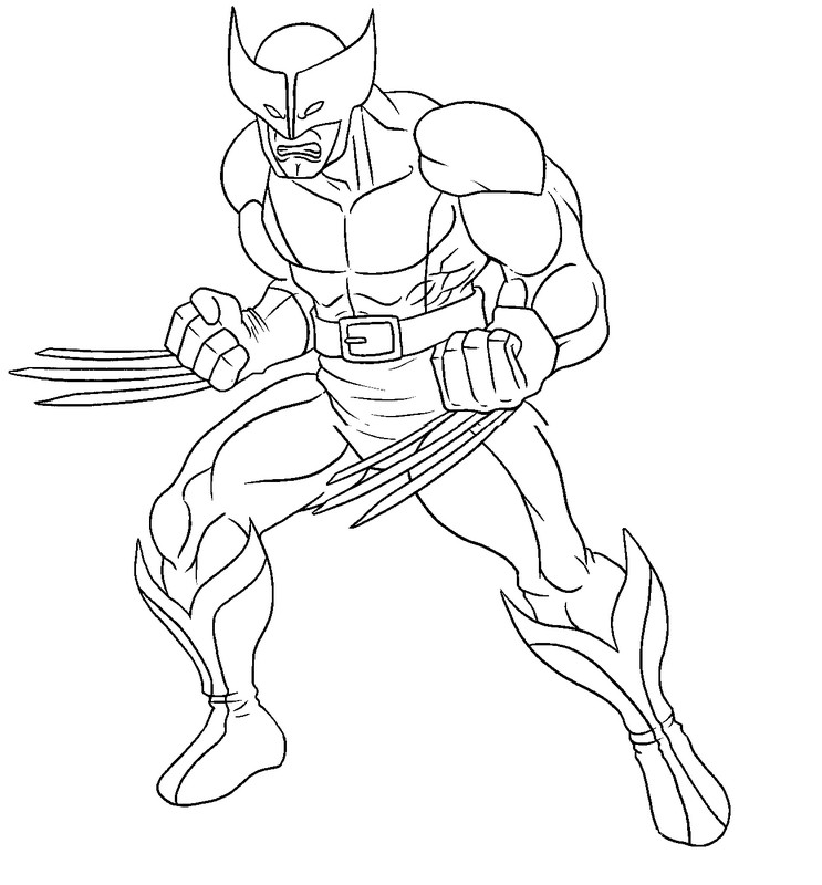15 wolverine coloring pages for kids sharp claws x men Print