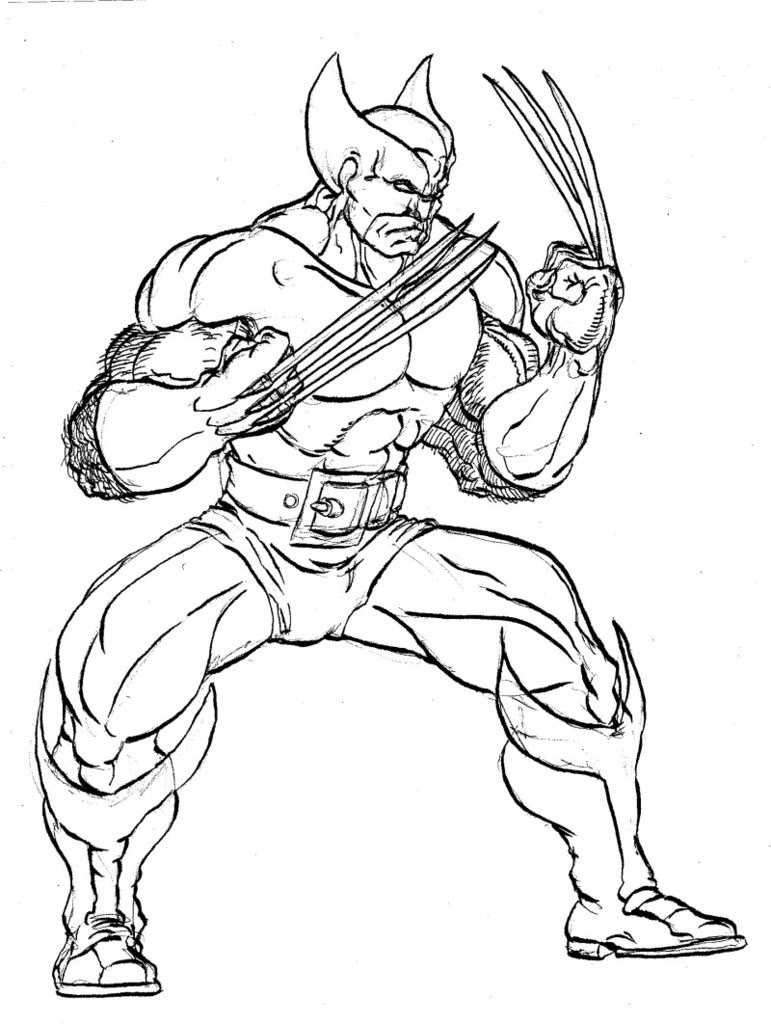 15 Wolverine Coloring Pages For Kids
