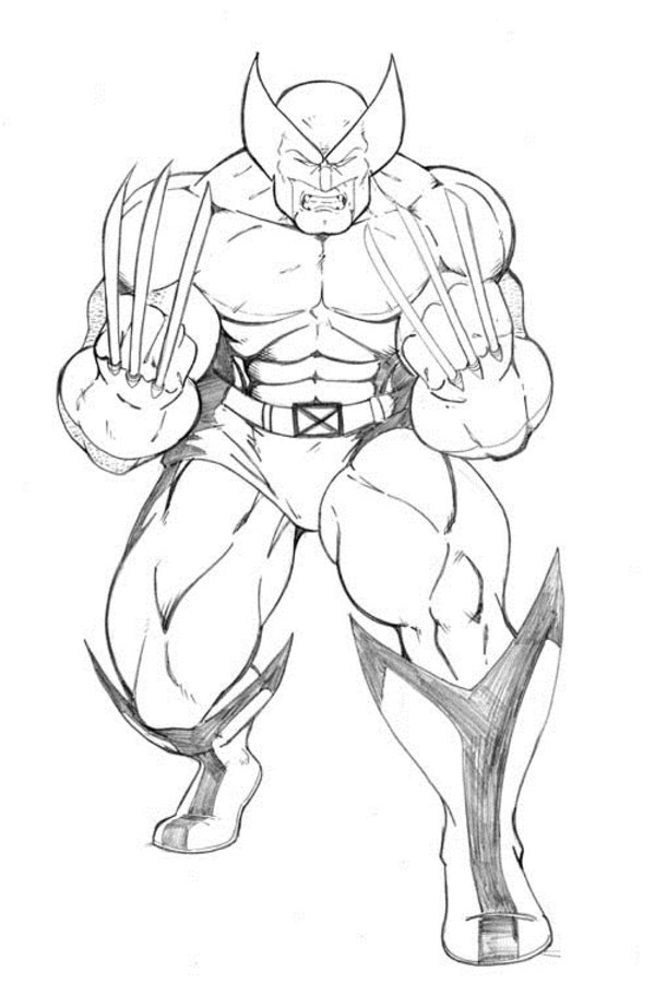 15 wolverine coloring pages for kids - sharp claws x-men ...