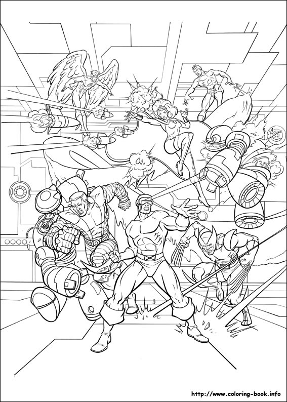 coloring pictures x-men,printable,coloring pages