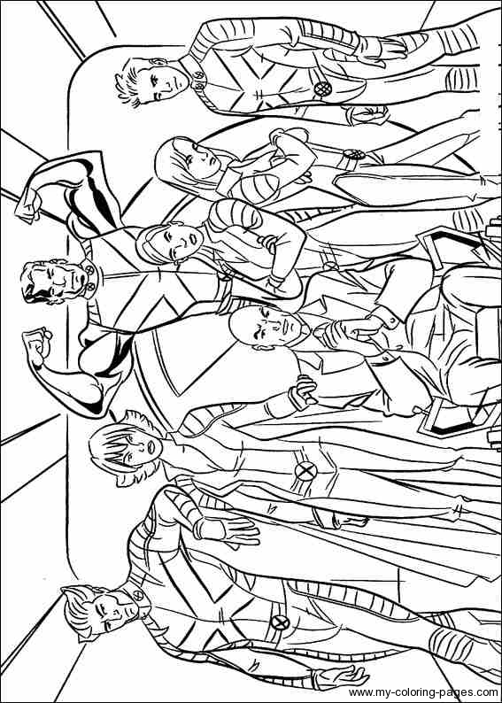 kids coloring pages x-men,printable,coloring pages