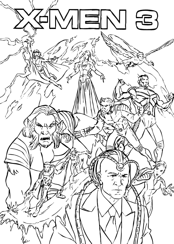 printable x-men coloring pages,printable,coloring pages