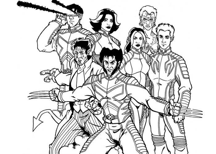 x-men coloring page,printable,coloring pages