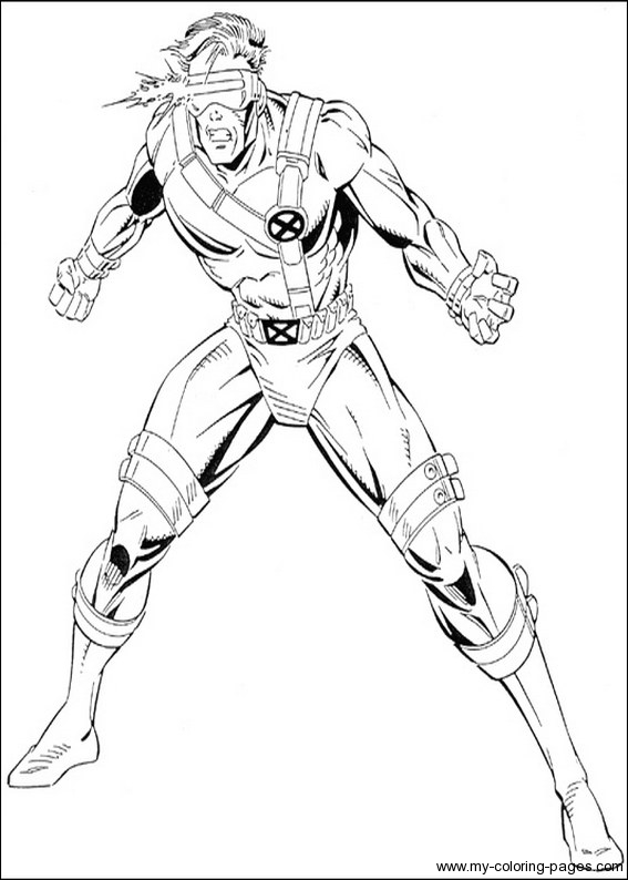 Superhero X Men Wolverine Coloring Pages Printable | 794x567